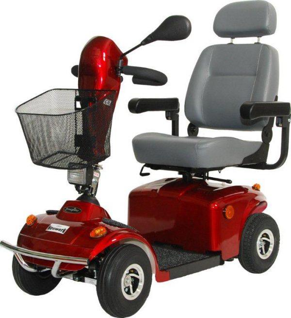 Elektromobil Freerider Neuwerk, rot, Frontansicht
